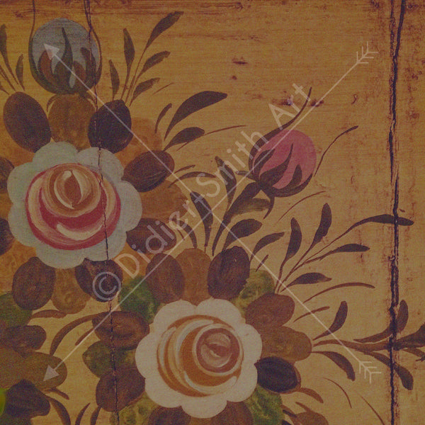 Antique flowers in wood - Didier-Smith Art