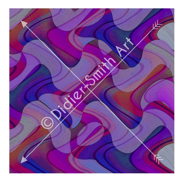 C2343 Purple waves abstract art