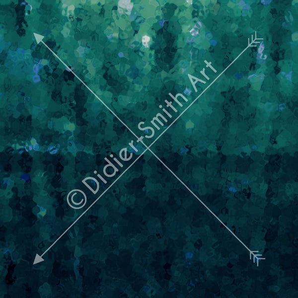 Blue and green abstract background - Didier-Smith Art