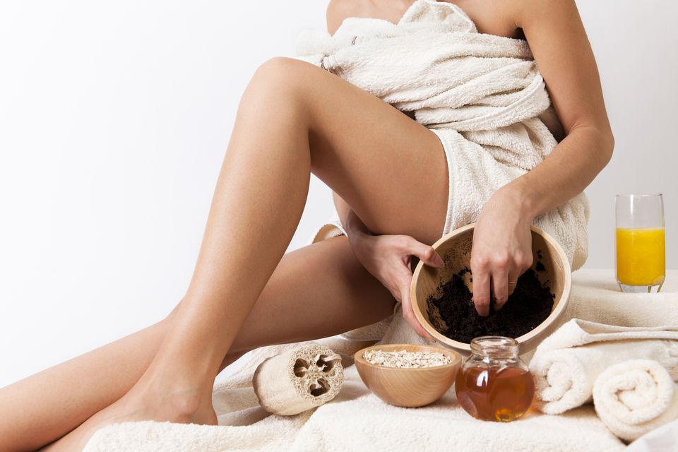 Anti Ageing Anti Cellulite Coffee Vanilla and Rose Scrub.