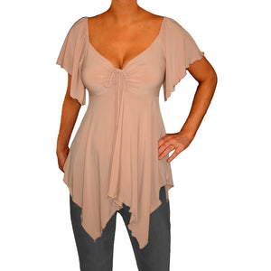 Brand New FunFash Caramel Tan Top!!