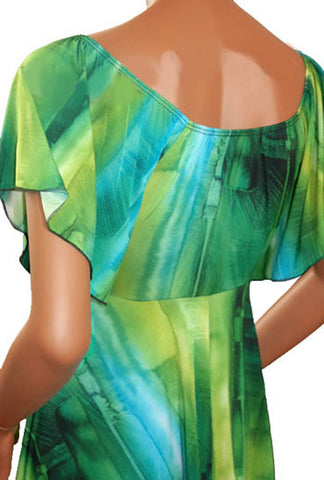 Image of Funfash Plus Size Emerald Green Women's Empire Waist Top Shirt Clothing