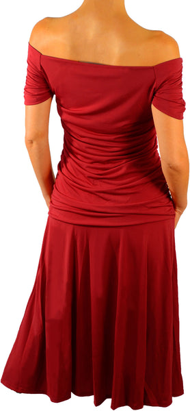 Funfash Plus Size Dress Apple Red Womens Plus Size Cocktail Dress Cruise Dress