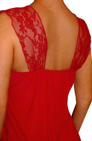 Funfash Plus Size Corset Candy Apple Red Lace Bustier Plus Size Top Shirt Blouse
