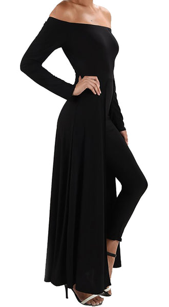 Funfash Women Black Pants Leggings Cape Dress Jumpsuit Bodysuit Made in USA