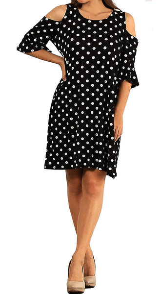 Dresses | Polka Dots Dress | Made In USA | Funfash