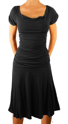Funfash Plus Size Dress Gothic Black Plus Size Cocktail Women's Dress Cruise Dress