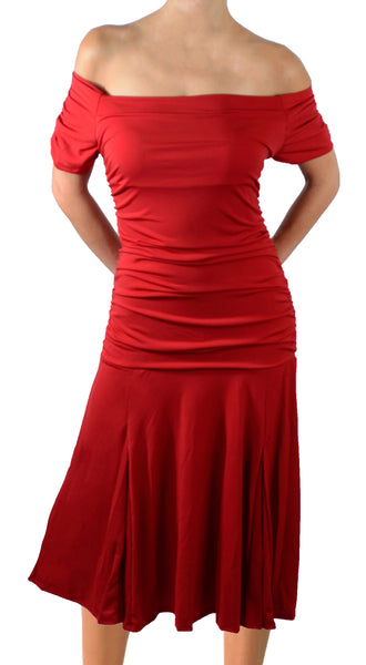Funfash Plus Size Women Red Short Sleeves Flare Cocktail Party Dress Made in USA