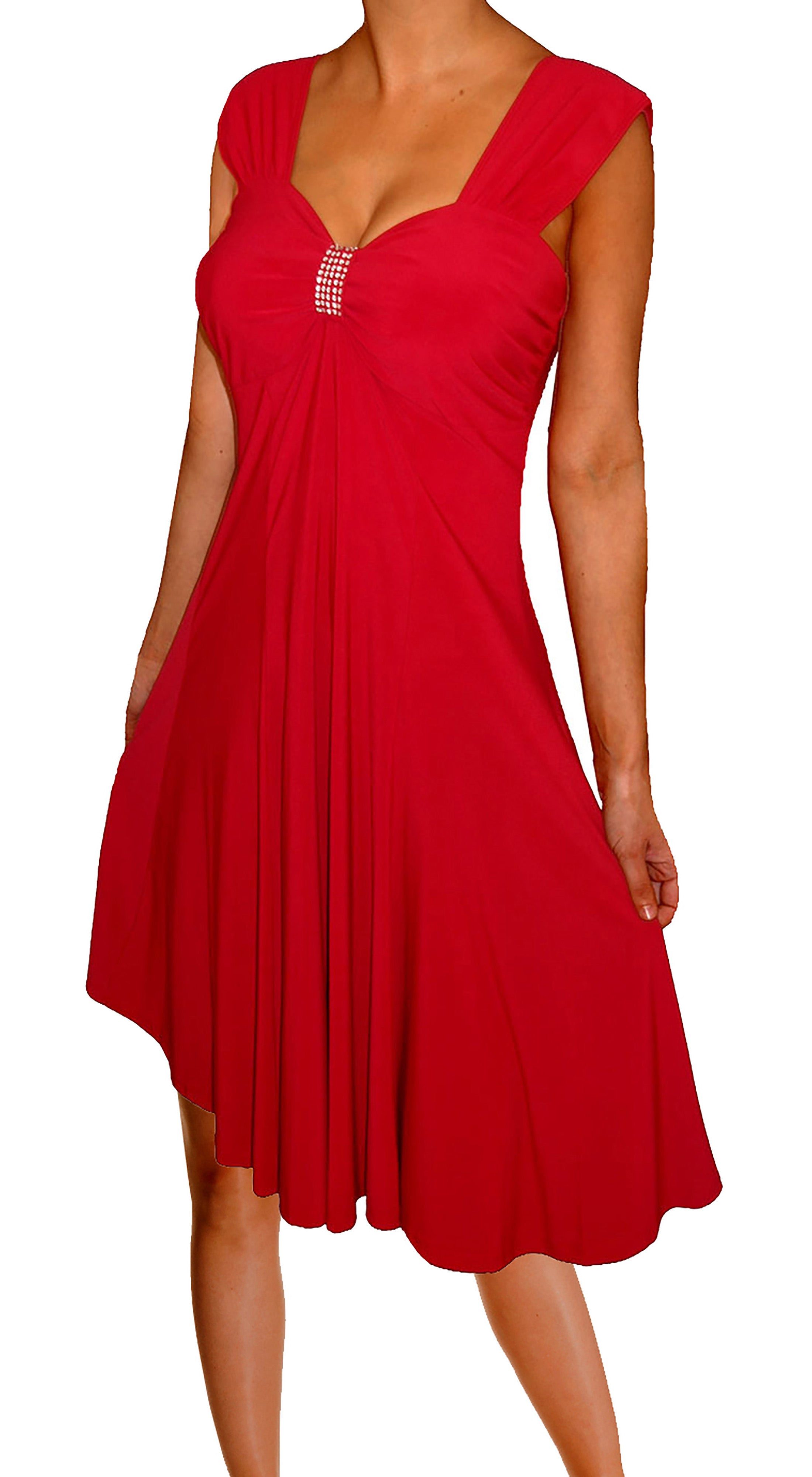 180c3176dfa Funfash Plus Size Women Empire Waist A Line Slimming Cocktail Dress Made in  USA