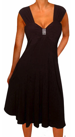 Image of Funfash Plus Size Women Empire Waist A Line Slimming Cocktail Dress Made in USA