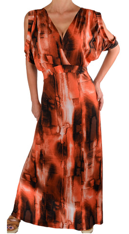 Plus Size Dresses| Peach Maxi Dress | Made In USA | Funfash