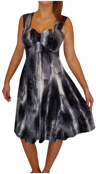 Funfash Plus Size Clothing Black White Gray Slimming Cocktail Dress Made in USA