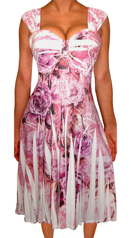 Plus Size Dress | Pink Rose Dress | Made In USA | Funfash
