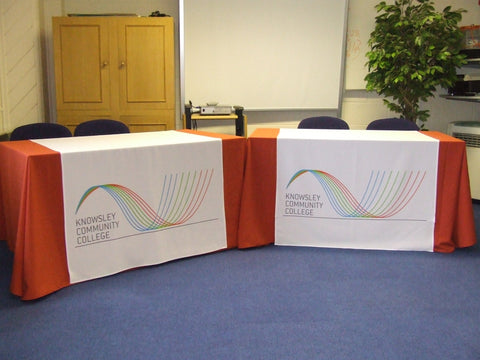 2 x Promotional Printed Table runners