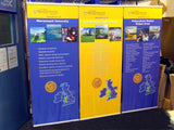 2x Fabric International Display Banners