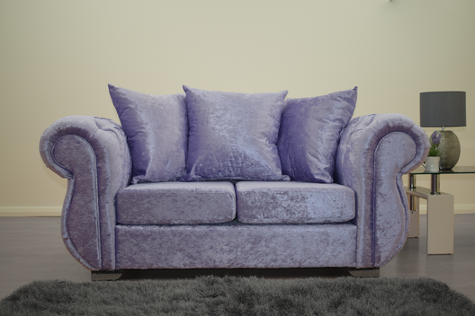 Buckingham 2 Seater Sofa in Lavender Velvet | HOS Home | Mirrored furniture | Affordable Luxury