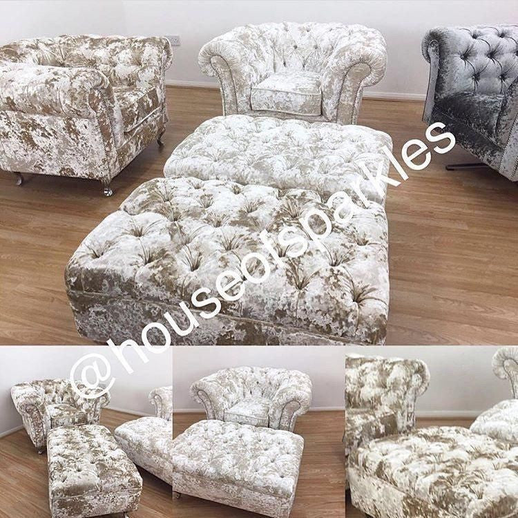 1 Seater Arm chair (Chelsea Collection) - Mirrored furniture - Sparkle Diamond - House of Sparkles