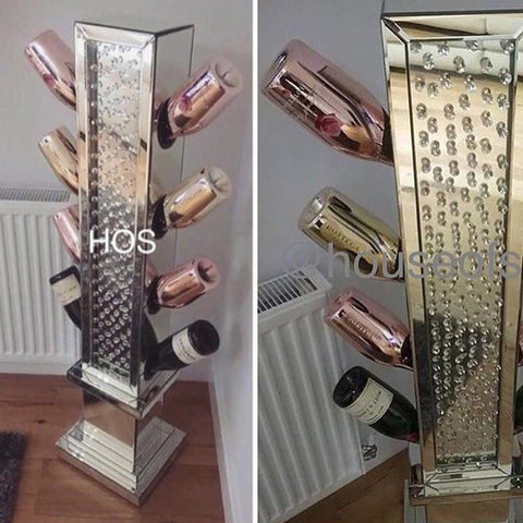 Floating Crystal Wine Bottle Holder - House of Sparkles - 1
