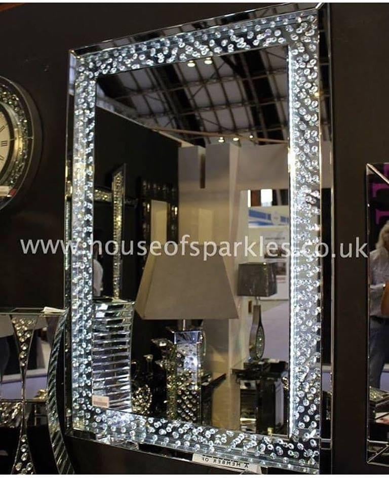 Floating crystal led wall mirror house of sparkles floating crystal led wall mirror mirrored furniture sparkle diamond house of sparkles aloadofball Choice Image