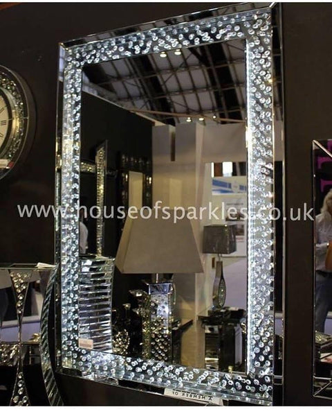 Pre Order Floating Crystal Led Wall Mirror House Of