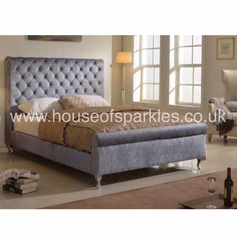 The Chelsea Bed - Mirrored furniture - Sparkle Diamond - House of Sparkles