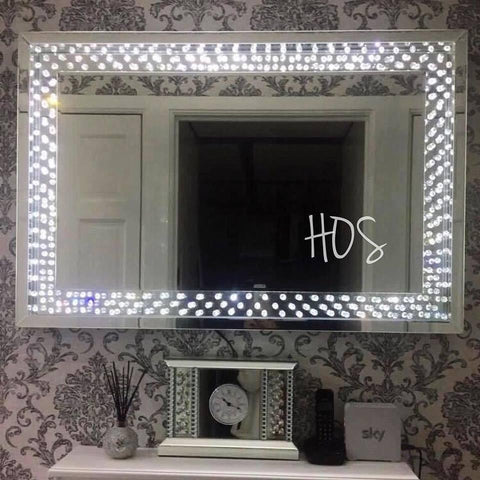 CRYSTAL DECOR LED FRAME MIRROR - Mirrored furniture - Sparkle Diamond - House of Sparkles