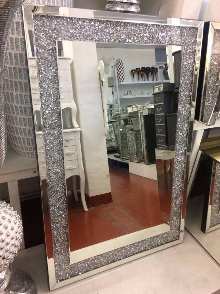 Pre Order For March Delivery Diamond Crush Wall Mirror