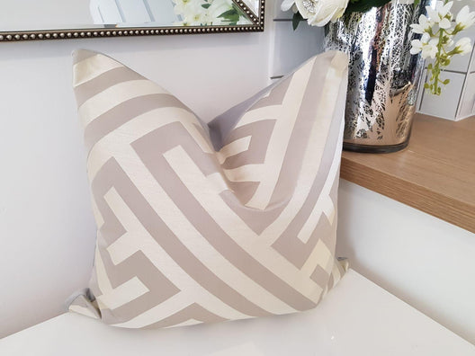 Luxe Cushions - Striped Geometric Cushion