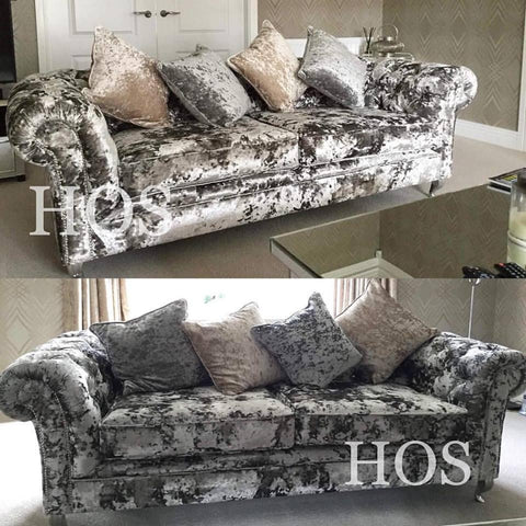 ***The Chelsea Sofa Collection Sets - Mirrored furniture - Sparkle Diamond - House of Sparkles