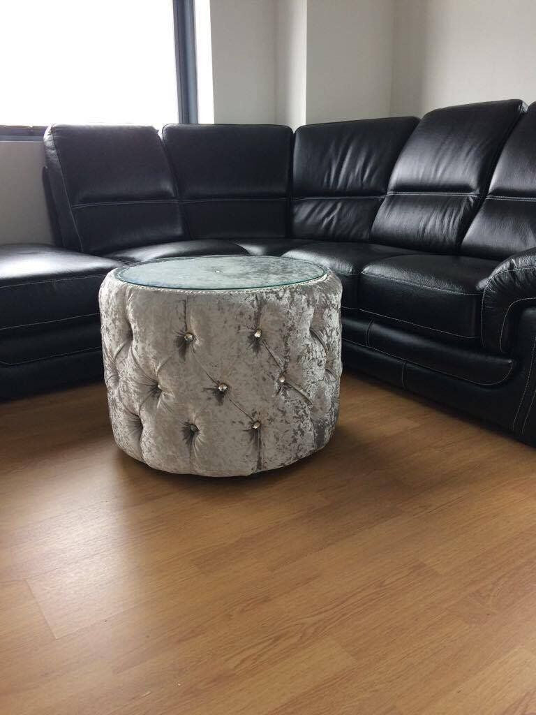 Made to order - Chesterfield Coffee Table with Glass Top - Mirrored furniture - Sparkle Diamond - House of Sparkles