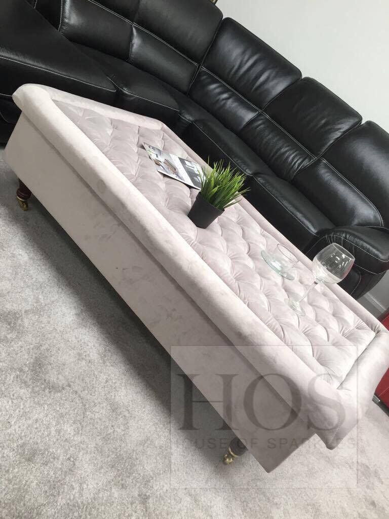 Made to order - Chesterfield Rectangular Coffee Table - Mirrored furniture - Sparkle Diamond - House of Sparkles