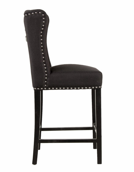 Black Luxury Wingback Bar Stool | HOS Home | Mirrored furniture | Affordable Luxury