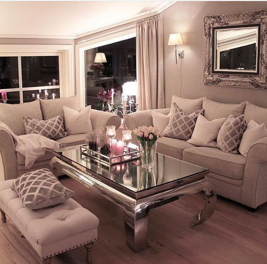 The Buckingham Rectangular Glass Top Coffee Table