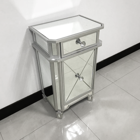 Regency Mirrored Bedside Table