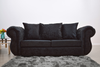 Buckingham 3 Seater Sofa in Black Velvet - Mirrored furniture - Sparkle Diamond - House of Sparkles