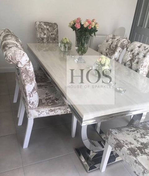 Arabella Dining Set with 6 Luxury Bespoke Dining Chairs