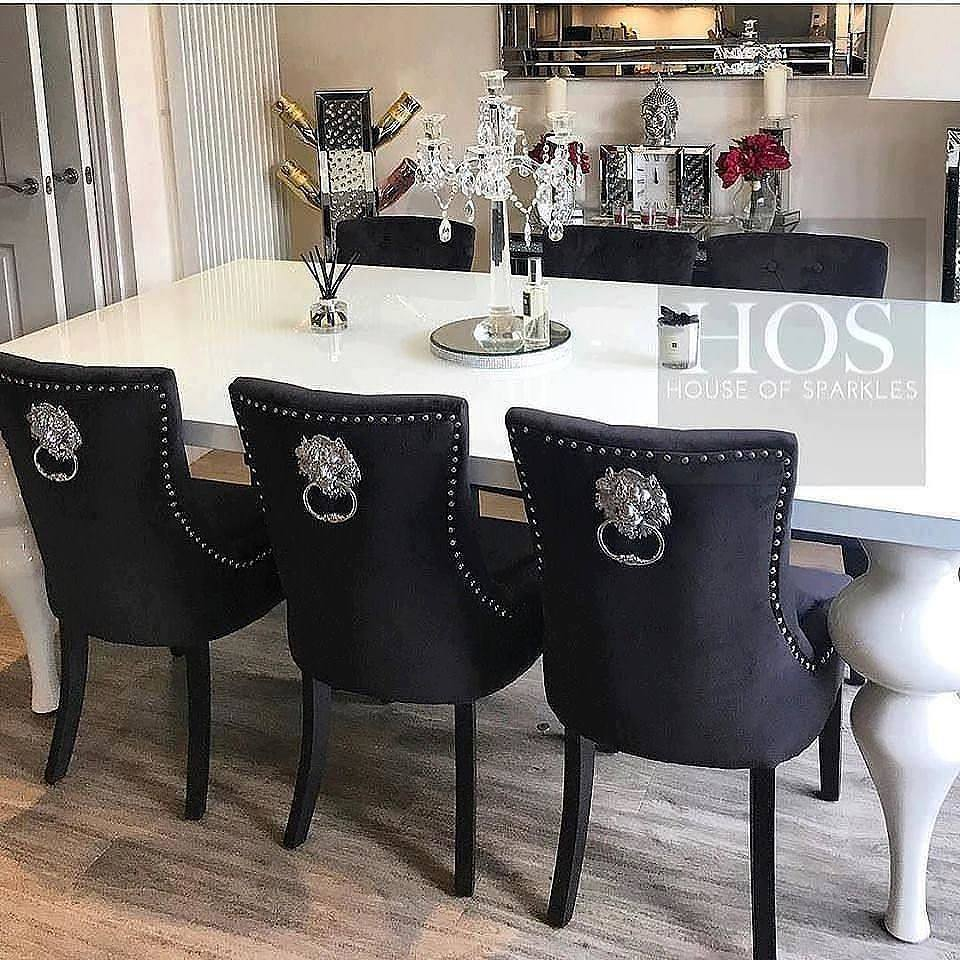 The 8 Seater Empire Deluxe Dining Set With Lion Knocker Chairs
