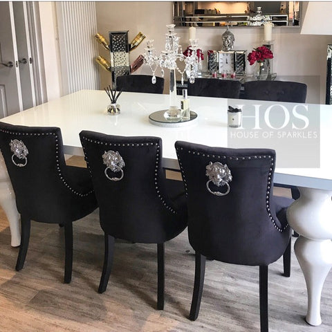 8 Seater Empire (Dining Table only) - Mirrored furniture - Sparkle Diamond - House of Sparkles