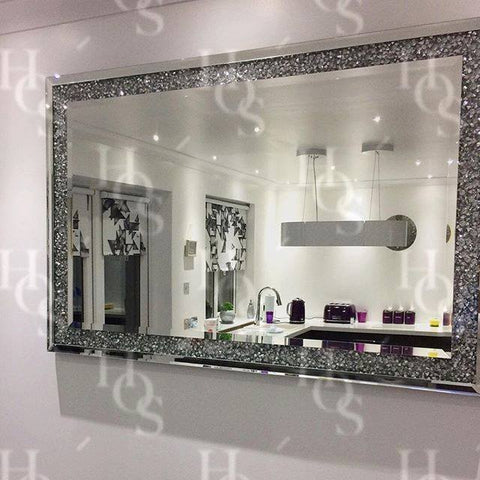 Image of Diamond Crush Wall Mirror - Mirrored furniture - Sparkle Diamond - House of Sparkles