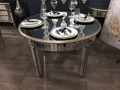 Antique Mirrored Grand Mirrored Dining Table