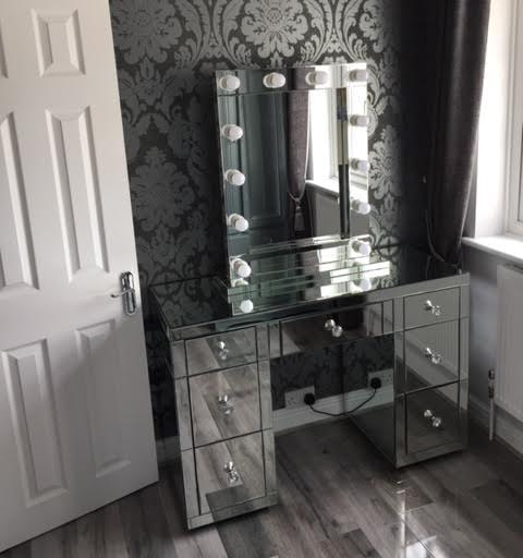 7 Drawer Classic Mirrored Dressing Table | HOS Home | Mirrored furniture | Affordable Luxury