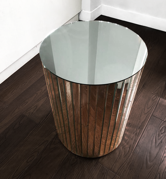 Hollywood Mirrored Side Table