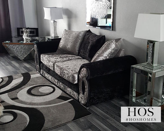 Exclusive Diamond Crush Mirrored Coffee Table | HOS Home | Mirrored furniture | Affordable Luxury