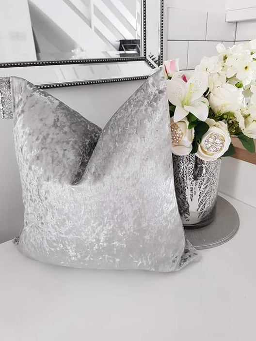 Luxe Cushions - Premium Crushed Velvet Cushion in Silver