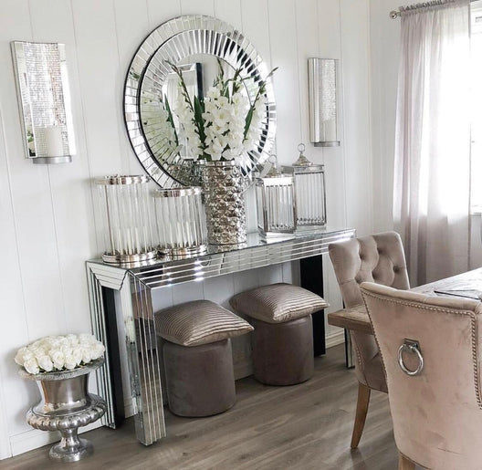 Hollywood Mirrored Console Table