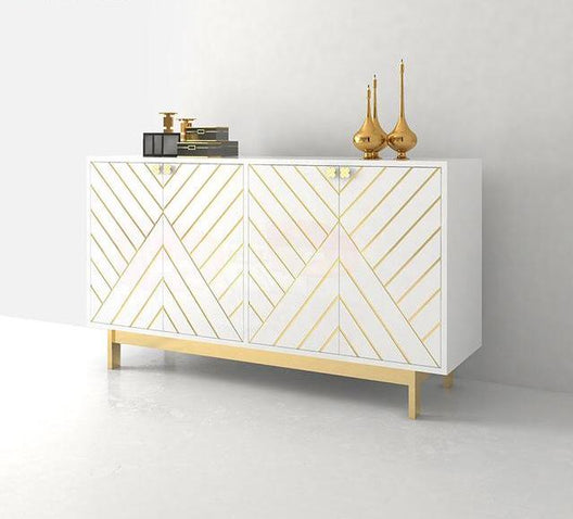 Miami White and Gold Sideboard