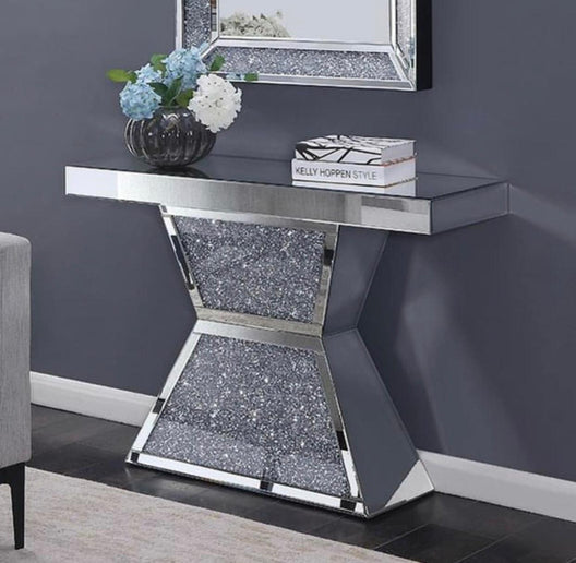 Diamond Crush Orion Console Table | HOS Home | Mirrored furniture | Affordable Luxury