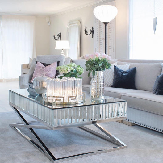 The Gatsby Classic Mirrored Rectangular Coffee Table