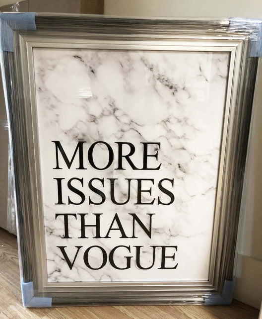 Fashion Slogan Wall Art | HOS Home | Mirrored furniture | Affordable Luxury