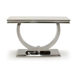 Arabella Marble Console Table - Mirrored furniture - Sparkle Diamond - House of Sparkles